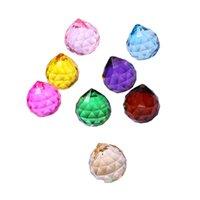 30mm colorido bola de cristal prism de cristal cristal arco-íris pingentes fabricante de cristais de pendurado prismas para janelas para o presente OWD8760