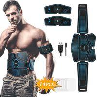 Muscle Stimulator ABS Hip Trainer EMS Abdominal Belt Electrostimulator Muscular Exercise Home Gym Equipment Electrostimulation 201124