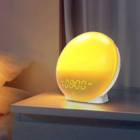 Book Lights LED USB 7 Colors Table Lamp With Alarm Clock Radio Speaker Wake Up Wireless Bedside Light Home Bedroom Night Decor