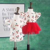 Verão bebê meninas gatos vestido tutu romper onesie para crianças feliz flutter mouwen poeira macio vestuário 210506