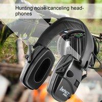 戦術イヤホン電子撮影イヤーマフ狩猟防止アンチノイズヘッドフォン音増幅聴力保護ヘッドセット折りたたみ式