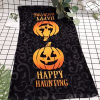 39*64CM 15*25INCH Halloween Cotton Towel Soft Super Absorbent Wiping Rags Quick Dry Hair Bathroom Kitchen Towels Home Glass Dish Cleaning Wipe Cloth Gift JY0758