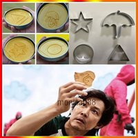 Squid Game Sugar Honeycomb Mold Cake Biscuit Molds 4-Piece Set Full Kit Dalgona Candy Recipe Round Pentagonal Star Umbrella-shaped Triangle In stock DHL