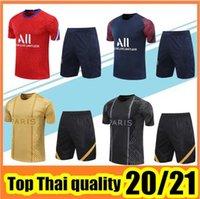 2021 Erkekler Kısa Kollu Eşofman Eğitim Takım 20 21 T-shirt + Pantolon Futbol Üniforması Set