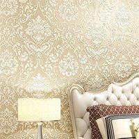 Moderne Damast Tapete Wandpapier geprägte strukturierte 3D Wandbedeckung für Schlafzimmer Wohnzimmer Wohnkultur 621 R2