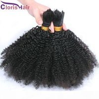Brazilian Afro Kinky Curly Braiding Hair No Weft Cheap Unprocessed Kinky Curly Human Hair Extension in Bulk 3 Bundles Deals For Micro Braids