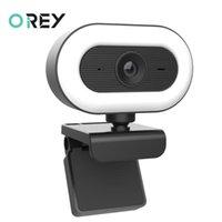 Webcams webcam 2k vidéo mini autofocus web caméra avec microphone de lumière USB cam pour ordinateur en direct ordinateur ordinateur portable YouTube webcamera