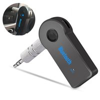 Real Stereo New 3.5mm Streaming Bluetooth Audio Music Receiver Car Kit BT 3.0 Portable Adapter Auto AUX A2DP for Handsfree Phone MP3