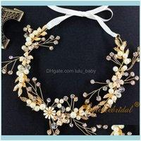Hair Jewelry Jewelryhair Clips & Barrettes Factory Wholesaler Wedding Dress Prom Aessories Headbands Rhinestone Pearl Bridal Vine Bridesmaid