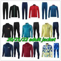 mens 20 21 aesenal soccer tarcksuit football jacket 2021 2022 Camiseta de futbol maillot foot adult long zipper training suit jackets