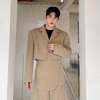 Homens Coreano Moda Estilo Curto Terno Jaqueta Blazer Masculino Terno Trendy Casaco Blazers Vestuário