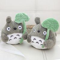Kawaii pelúcia brinquedo pelúcia animais de pelúcia folha de lótus Totoro dos desenhos animados plum soft brinquedos para meninas presentes de aniversário crianças