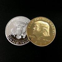 الحرف الفنية دونالد J.Trump التذكارية الرئيس الأمريكي 45 الرئيس الجدة عملة إبقاء أمريكا عظيم القائد مرة أخرى في كبير التحدي الذهبي ترامب العملات الذهبية DHL