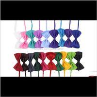 Giyim Çok Renkler Pet Papyon Köpek Kravat Yaka Çiçek Aksesuarları Dekorasyon Malzemeleri Saf Renk Ilmek Kravat WEN4549 SYW94 3XVV0