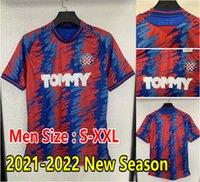 21 22 HNK HAJDUK Split Jersey Away 2021 2022 Simic Livaja Vuskovic Bluk Eduuok Camisas de futebol Top Tailândia Qualidade Maillot de pé