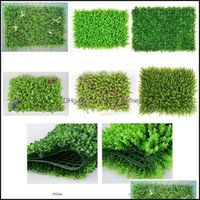 Patio, Home & Gardenplastic Lawn Plant Green Wall Indoor Balcony Decoration Fake Turf Artificial Grass Fence Garden Decorations 40X60Cm Drop