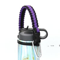 Handle rope Flask Water Bottle carrier survival Strap cord with Safety Ring Wide Mouth Bottles Holder with Carabiner 12oz to 64 oz GWA9450