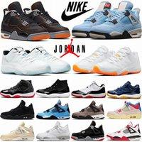 Air Jordan 11 Мужские Баскетбольные Обувь Jumpman 4 4S Университет Синий Черный Кот Cat Smed Part Taupe Haze Низкая Яркая Цитрусовая Легенда Мужчины Женщины Спортивные кроссовки Тренеры AJ4 11s