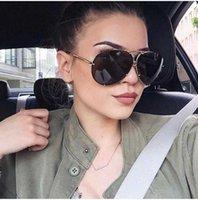 Nueva marca grande Dign Aviation Sun Hombres Moda Hombre Espejo Sol Femenino Para Mujeres Eyewear Kim Kardashian Oculo