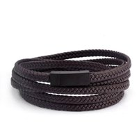 Tennis 60cm Size Smooth Frosted Brand Design Wrap Leather Bracelets Rope Chain Link Braided Men Women Charm Fashion