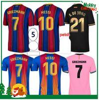 2020 2021 ansu fati messi griezmann de jong pjanic coutinho 축구 셔츠 20 21 스포츠 축구 유니폼 바르셀로나 성인 남성 + 키즈 키트