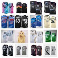2021 Basketballtrikot.Lebron James Harden Luka Doncic Damian LillardBooker Kawhi Leonard Giannis AntetokounMPO Joel Embiid Jimmy B