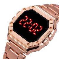 Orologi da polso orologio digitale donne uomini unisex di lusso in acciaio inox cinturino da polso orologi da polso da donna quadrante in lega da donna orologio elettronico Reloj Muje