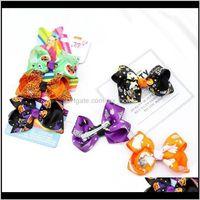 Baby, & Maternity Halloween 3Pcs Set Girls Jojo Siwa Bows Baby Bb Clips Cartoon Kids Barrettes Designer Hair Aessories Drop Delivery 2021 Q0R