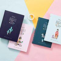 Coreano 100 balde para fazer a lista desejo kawaii flor bonito colorido caixa diária planejador escola escola material estacionário A5 blogs