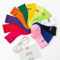 Kinder Jungen Mädchen Brief Socken Süßigkeiten Farbe Buchstaben Baumwolle Atmungsaktive Socke Geschenk für Kinder Hohe Qualität Mode Strumpfwaren