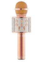 Inalámbrico Bluetooth Karaoke Micrófono portátil Pandheld Mic Altavoz Música USB KTV Reproductor Grabador Navidad Cumpleaños Cumpleaños Regalo de fiesta Cantaje Juguete para niños