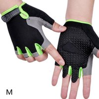 Cycling Gloves 1 Pair Anti Slip Sweat Men Women Half Finger MTB Road Riding Camping Hiking Gym Fitness Accessories