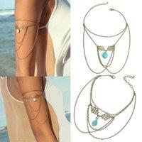 Woman Fashion Unique Tassel Chain Upper Arm Cuff Armlet Armband Bangle Bracelet