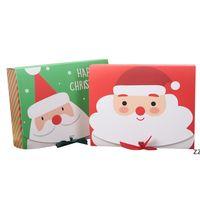 Caja de regalo grande de la víspera de Navidad Santa Fairy Design Papercard Kraft Present Party Favor Activity Box Red Green HWB10348