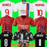 Olympique Lyonnais Lyon 축구 유니폼 21 22 Maillot 드 발 2020 2021 Traore Memphis Ol Maillots 드 축구 셔츠 남성 + 키트 키트 유니폼 세 번째