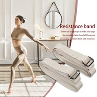 Ladies Yoga Stretch Band 183 X2.5 X 0.3cm Adjustable D-ring Buckle Cotton Fitness Resistance #60g Bands