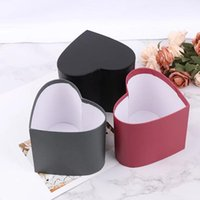 Florist Hat Boxes Red Heart Shaped Candy Bucket Gift Box Packaging Party Valentine's Day Flowers Gifts Living Vase Wrap