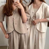 Camicia single sleeved sleeved sleeved sleeted sleeved + pantaloni versatili in vita alta, vestito di moda stile occidentale tuta da donna
