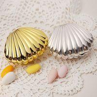 Düğün Favor Kutusu Hediye Paketi DIY Parlak Renkler Kabuk Şekli Parti Malzemeleri Sürpriz Şeker Depolama Teatime Doğum Günü Takı Kılıfı BWE5739