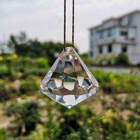 Cristal Suncatcher Chandelier Prism Peças Pendurado Bola Facetada Pingente de Iluminação Acessórios Casa Casa Decoração Ornamento Figurine Garden Deco