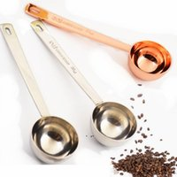 15ml Small Coffee Scoop Measure Spoon Scale Stainless Steel 304 Material Silver Rose Gold Measuring Tool DWD10857