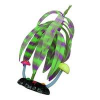 7x22cm 고무 시뮬레이션 된 나무 가정 장식 인공 형광 자주색 수족관 장식 꽃 WR에 대 한 인공 형광 자주색 테라리움 장식