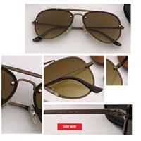 2019 piloto blaze uv400 óculos de sol homens mulheres frame de metal espelho flash dring designer 3584n sol óculos masculinos retro designer aviação gafas