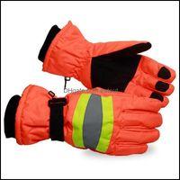 Ski Schutzausrüstung Schnee Sport Sport Outdoorski Handschuhe 1 Paar Warmfinger Thermal Rutschfest Snowboard Winter Verdicken Reflektierende Arbeiter Sanitati
