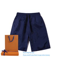 Verão Mens Moda Clássico Blue Shorts Casual Sports Menfolk Running Wear Calças Cropped Adequado para Adolescentes