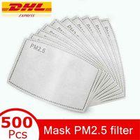 Masque PM2.5 Filtrer Tapis de filtre pour le tampon anti-brume remplaçable Slice de filtre 5Layers Filtre de charbon non tissé Filtre de charbon de charbon MMA3435