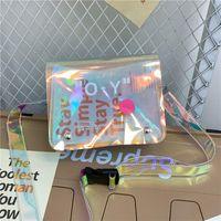 حقائب الكتف الأرجواني الروح الطيور - أزياء حقيبة مصمم النساء crossbody الإناث اليد الشفافية للعلامة التجارية 2021