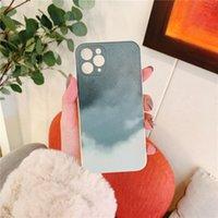 2021 Casse del telefono del PC della pittura ad olio per iPhone 12 11 Pro Max SE 8 8plus x XR XS con inserti in alluminio