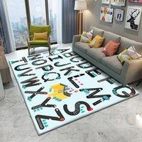 Teppiche 2021 tierpuzzlespiel lernen für baby spielen rechteckige teppich im kinderzimmer flanell qualität teppich hoch