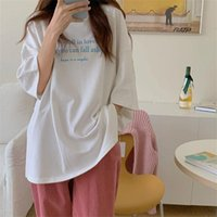 Women's T-Shirt Alien Kitty Summer Short Sleeves Printed Casual Tee Retro Tops Chic Leisure Basewear Loose Brief Cotton Basic Warm T-shirts
